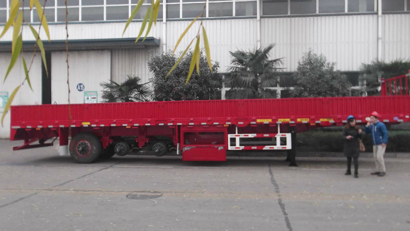 3axle Cargo/Fence Semi-Trailer with Flat Type