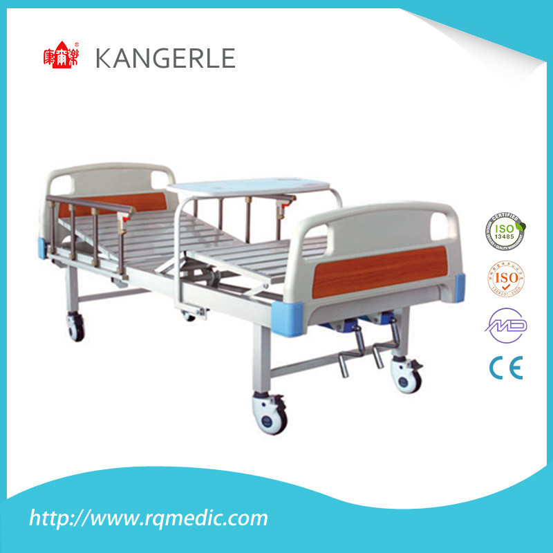 (ISO CE) Hosptial Bed. Manual Bed with ABS Bed Board and Reversable Table Board