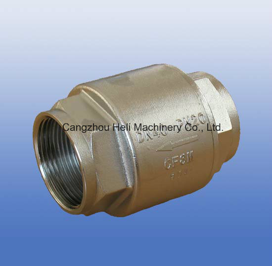 Stainless Steel 2PC Barrel Spring Check Valve