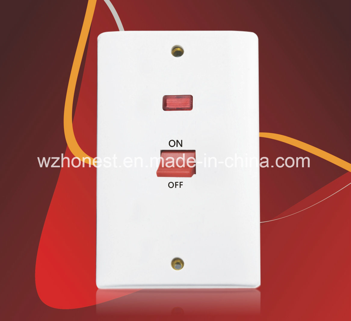 Double pole wall switch dolgular china new style 45a 1 gang double pole bs wall switch witch neon sciox Gallery