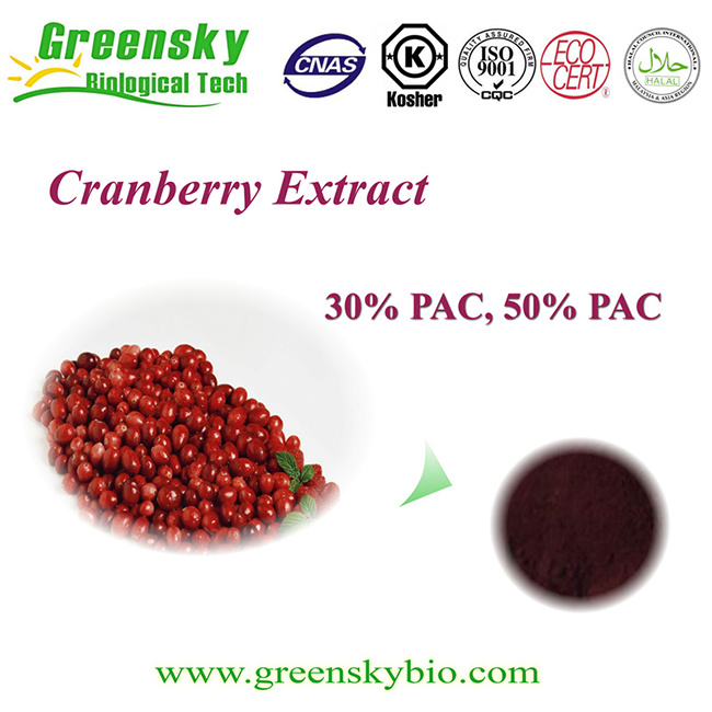 Organtic Cranberry Extract with 30% -50% PAC