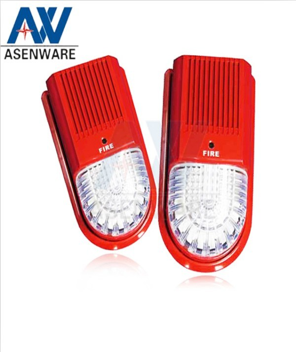 Fire Protection System Red Warning Siren with Flash Light