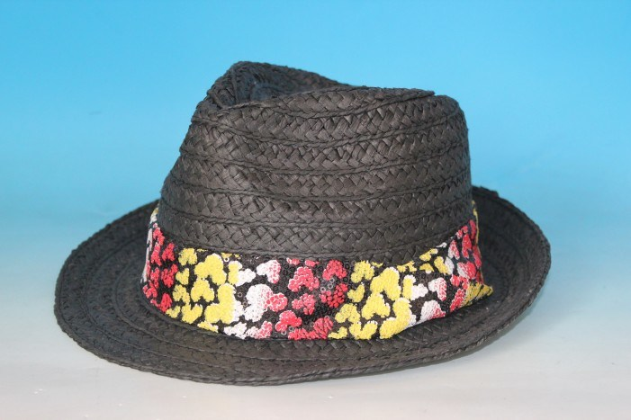 Wide Braid Straw Fedora Hat