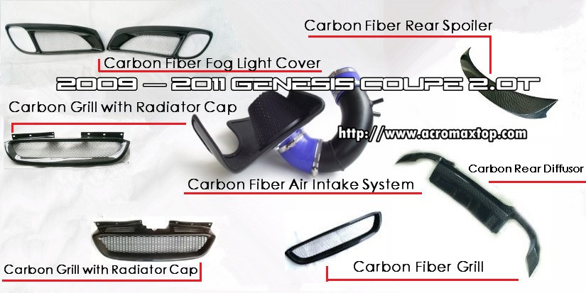 Genesis Coupe Carbon Fiber Tuning Parts