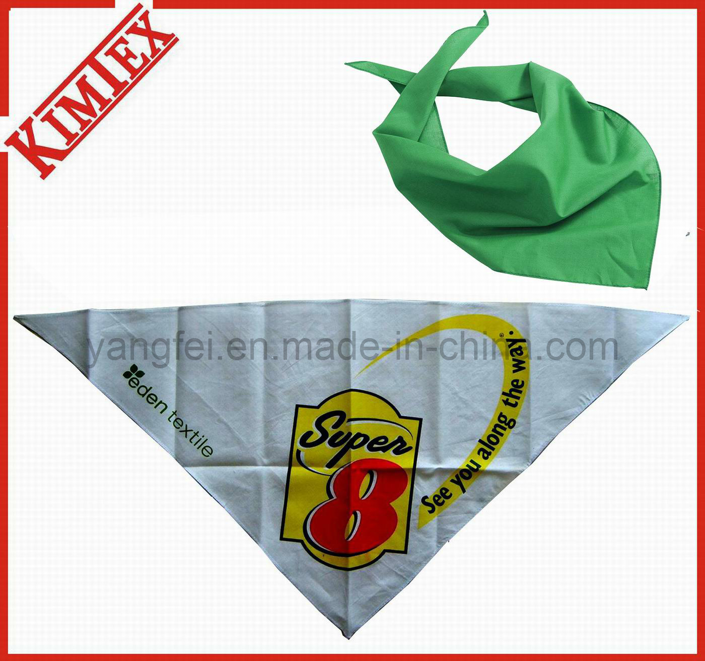 100% Cotton Fashion Promotion Triangle Bandana