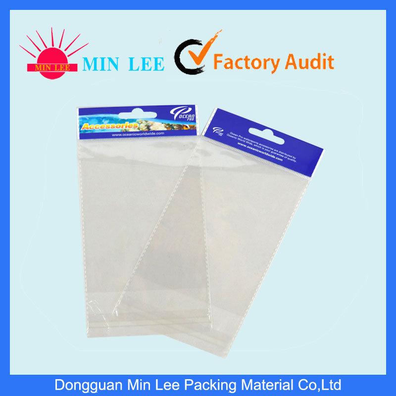 Clear BOPP Pearl Header Printing Bag with Self Adhesive Strap