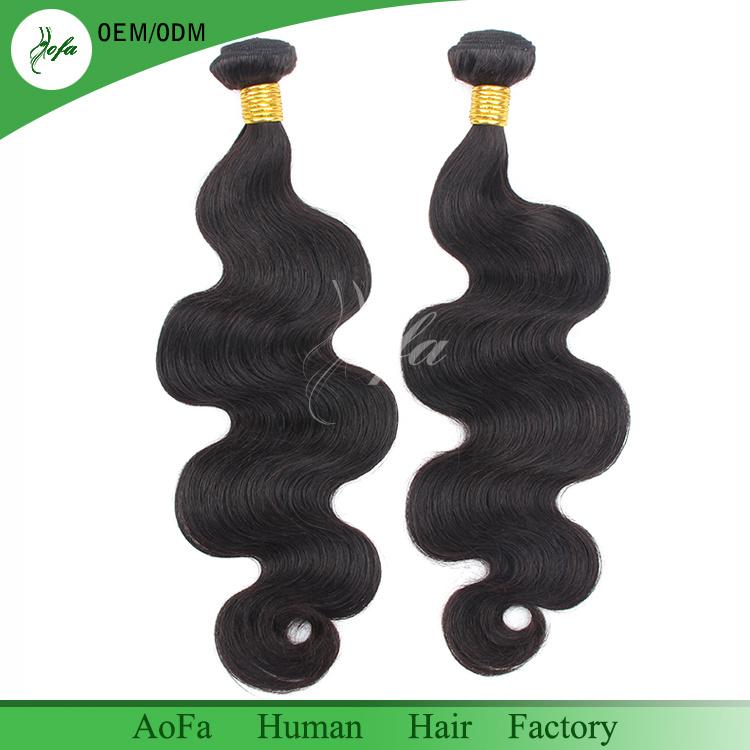 Unprocessed Wholesale Natural Black Color 1b# 100% Virgin Brazilian Hair