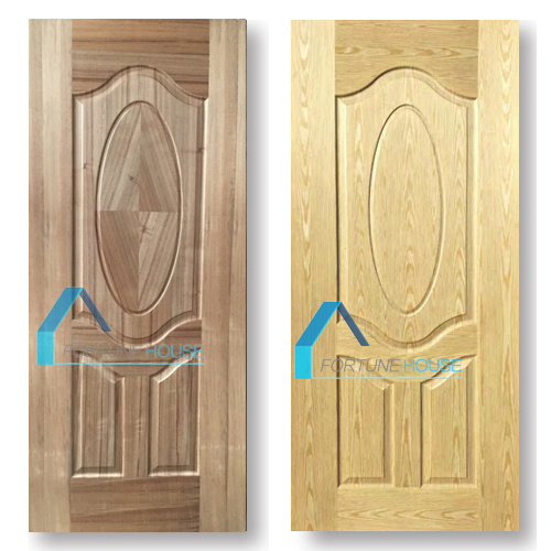Coloration Teak/Cherry Wood Veneer Laminate Moulded HDF Door Skins