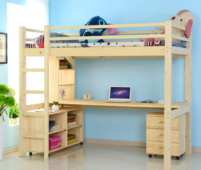 Wonderful Children Wooden Bunk Bed With Study Table (M X1012) Part 5