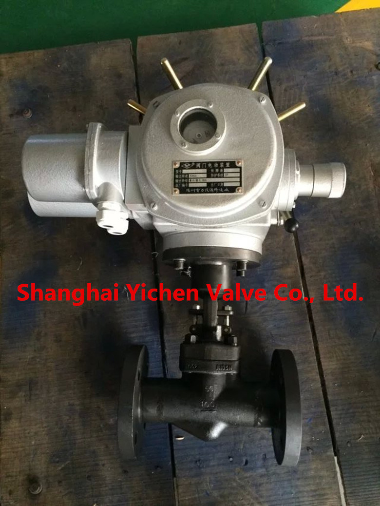 Electric Flange Type China Globe Valve (J941)