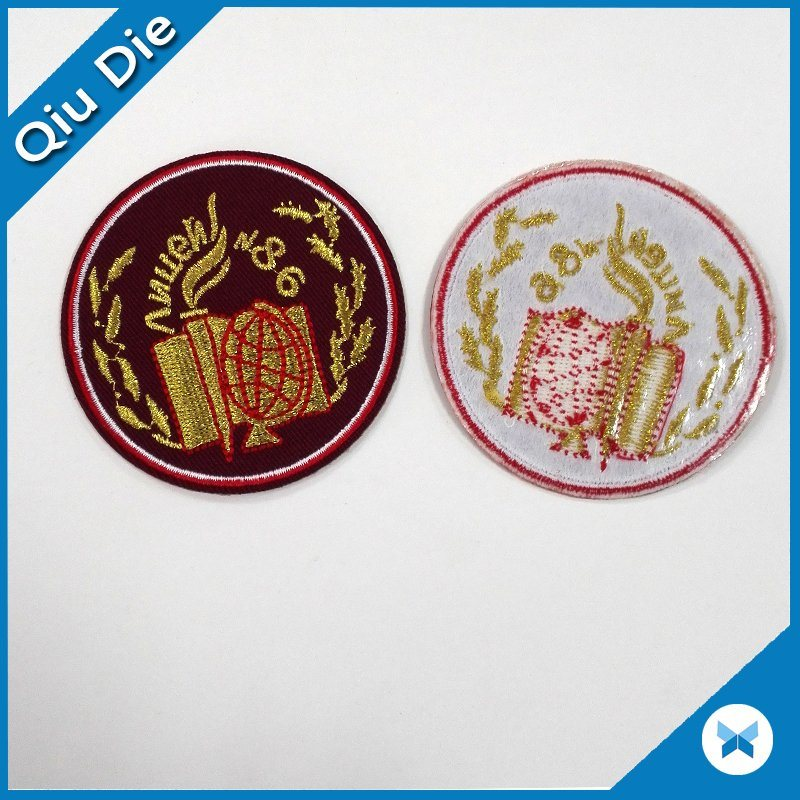 High Quality Iron on/Sew on Custom Embroidered Patches for Garment/Hat/Promotion