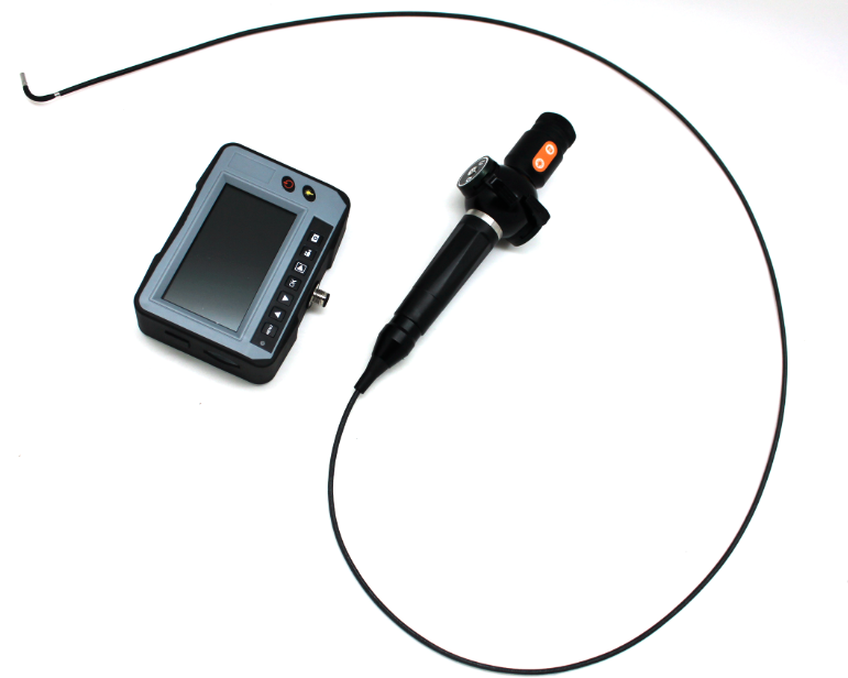 2.4mm Industrial Videoscope with 4-Way Tip Articulation, 1.2m Testing Cable