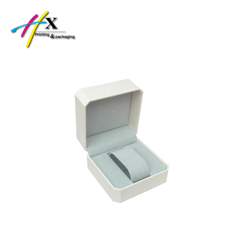 Black Leather Paper Coated Luxury Single Plastic Watch Box Cheap Boutique Watch Packaging Box