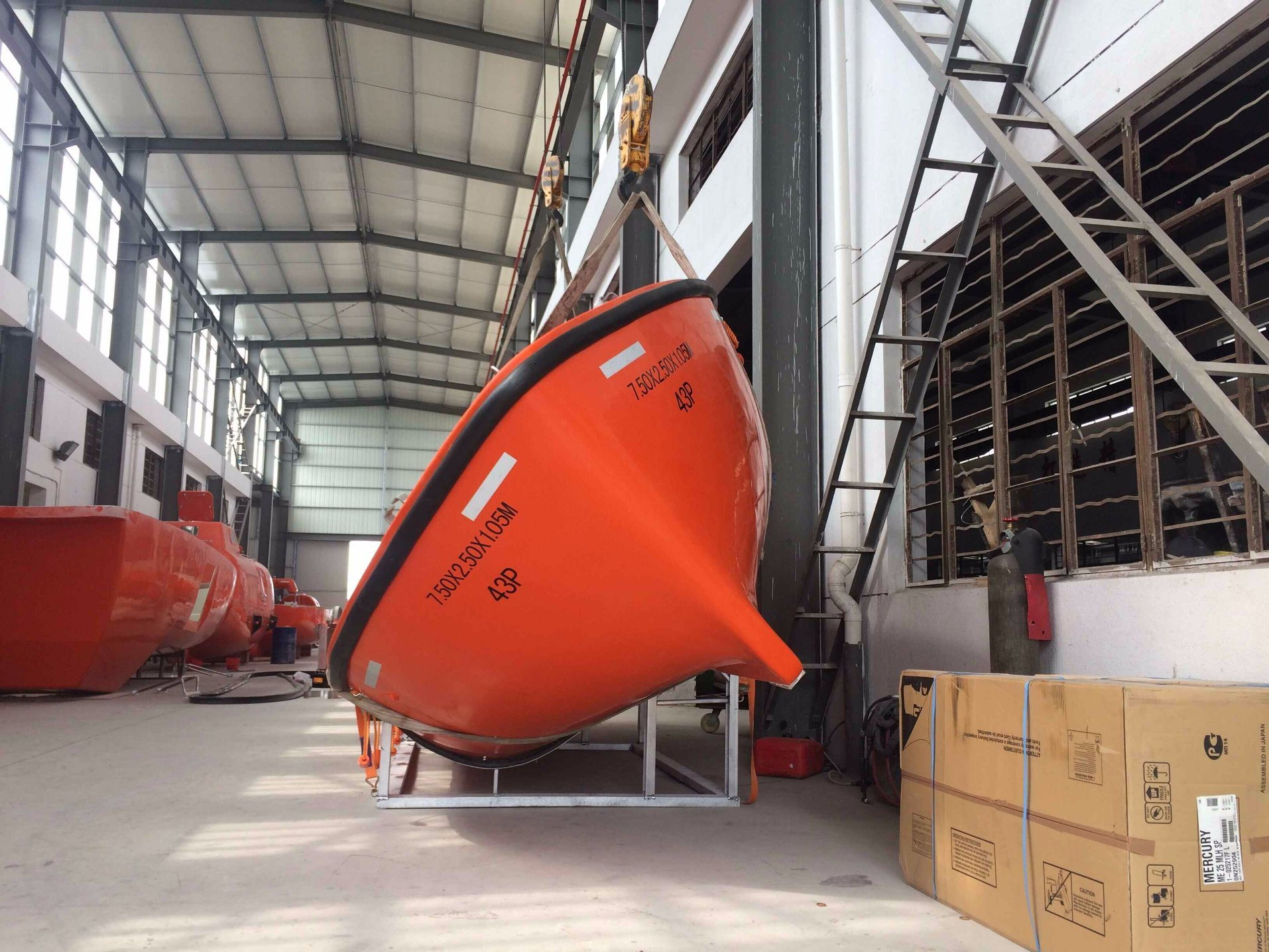 7.5m GRP Open Type Lifeboat with Davit