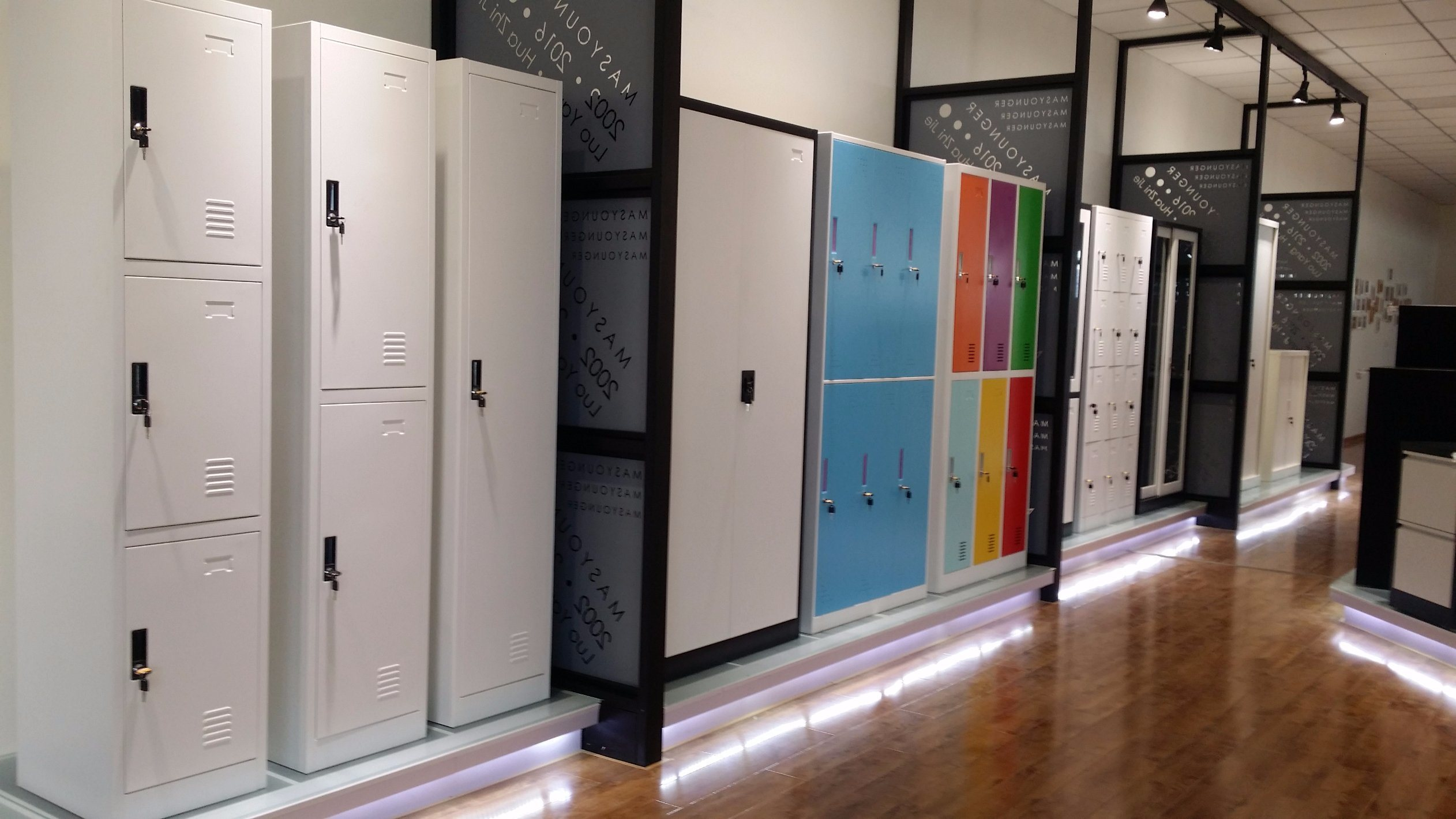 Office Metal Furniture 6 Door Colourful Steel Clothing Cabinet Locker