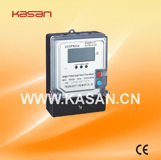 Ddsf5558 Single Phase Multi Tariff Kwh Meter