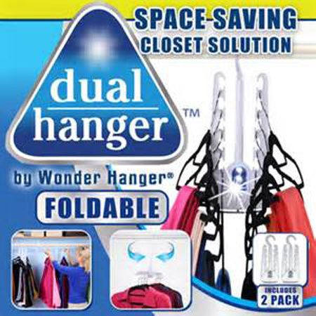 Dual Hanger, Clothes Hanger with LED Light, Coat Hanger