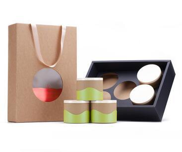 Customized Tea Packaging Box with Paper Bag