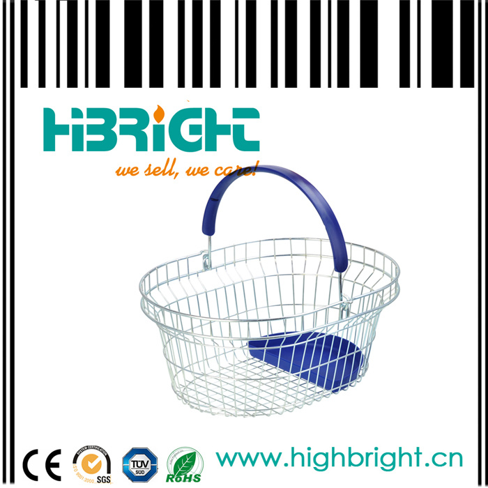 Oval Wire Mesh Shopping Basket (HBE-B-31)