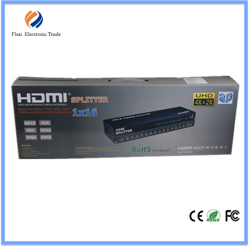 1X16 HDMI Splitter 16 Port, Support Cec, Hdcp, 3D 1080P
