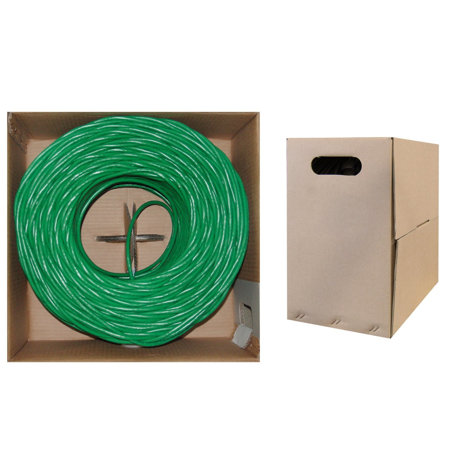 Green Color Cat5e UTP 4pairs 24AWG LAN Cable