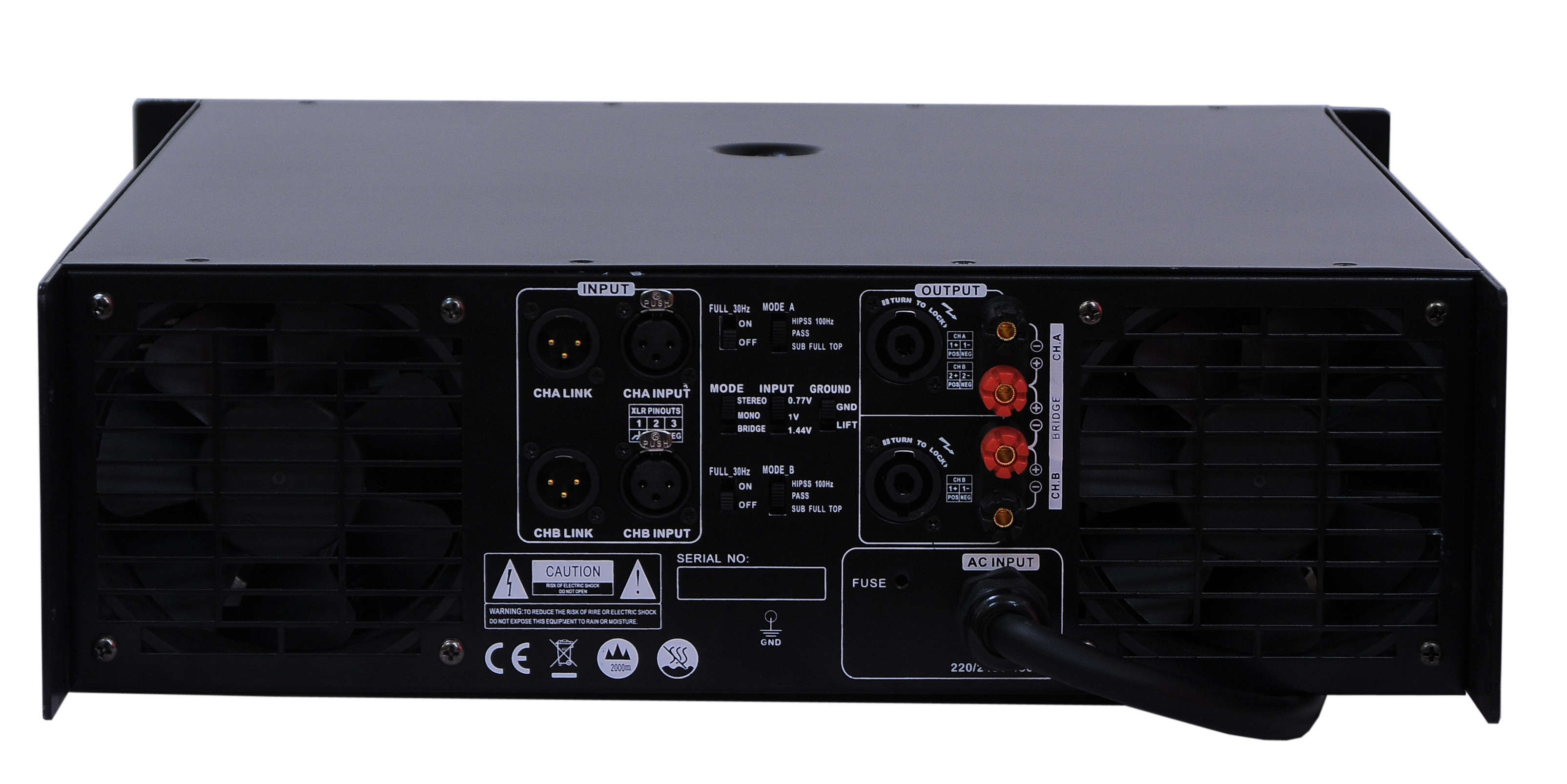 Aq Series, 3u Standard Cabinet, 2 Channels Professional Power Amplifier