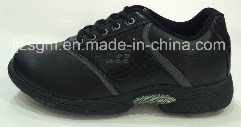 White/Black Fashion Lace-up Golf Shoes