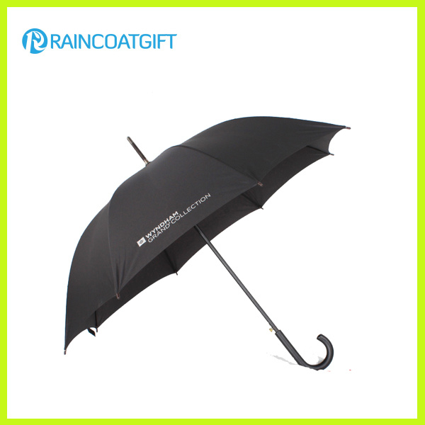 Advertisement Curved Wooden Handle Umbrella
