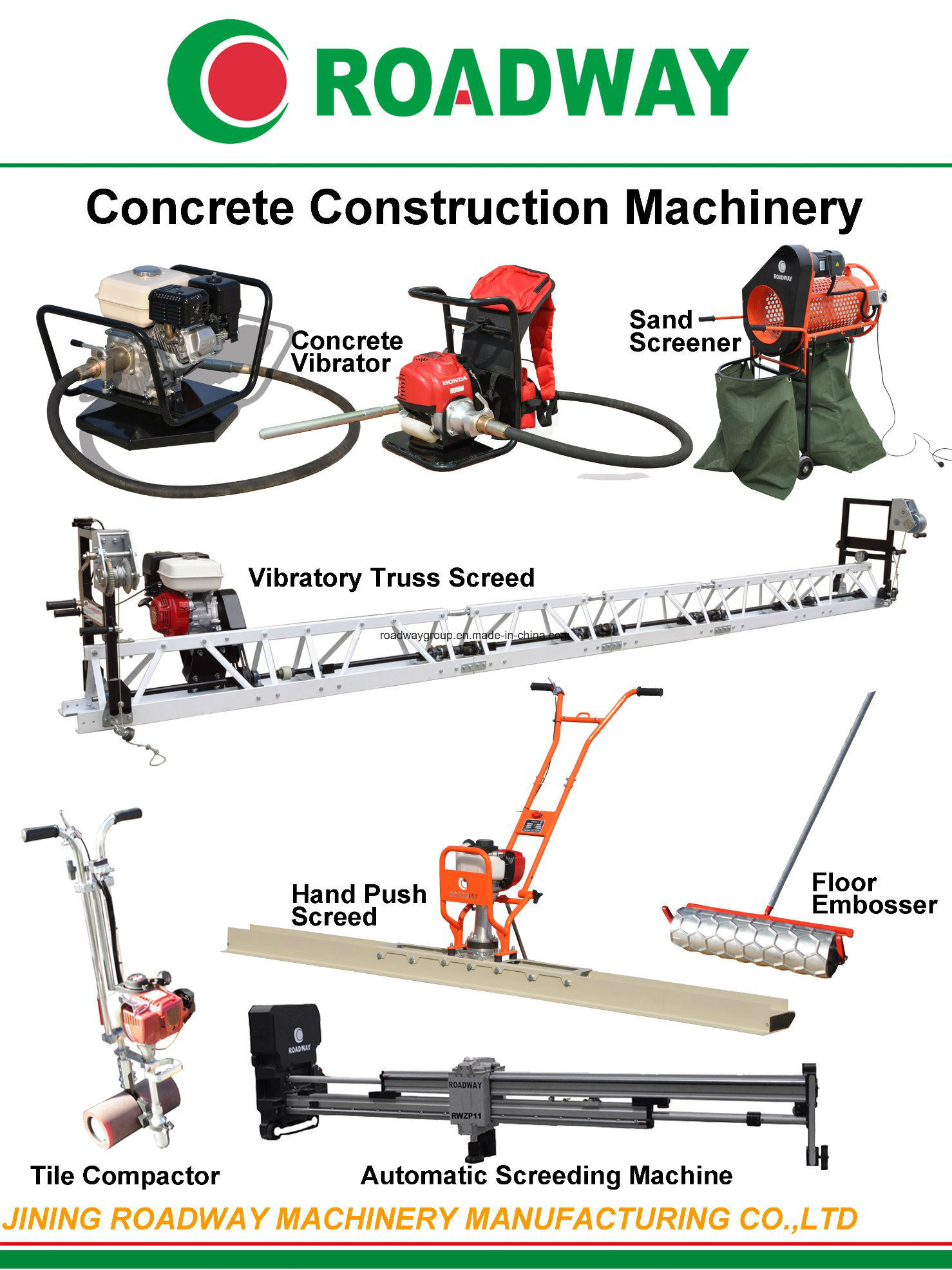 Flooring Concrete Hydraulic Leveling Laser Screed
