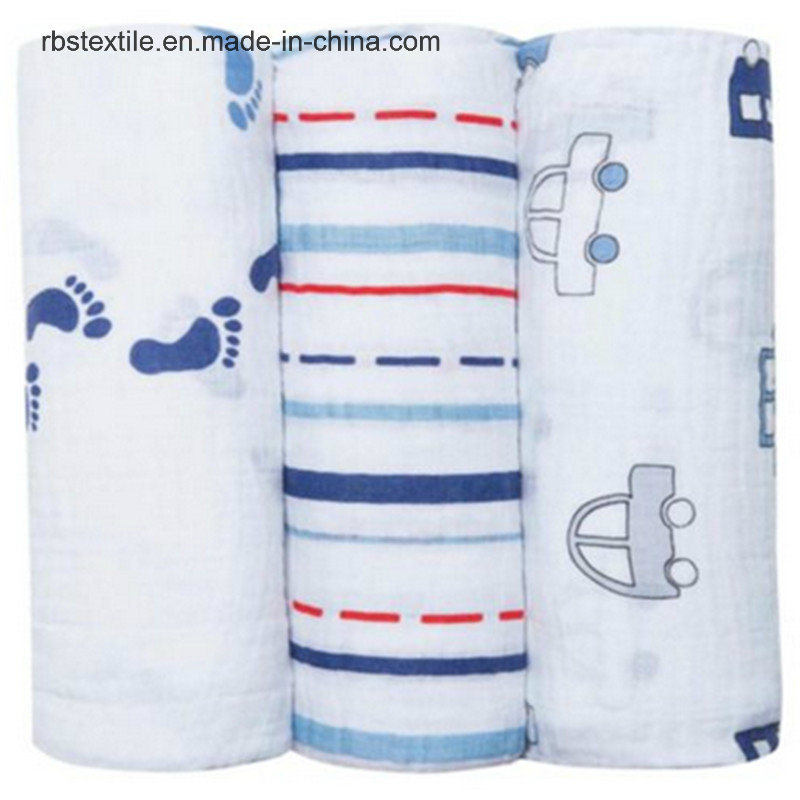 100% Cotton Infant Muslin Swaddle Blanket Sleeping Nursing Cover