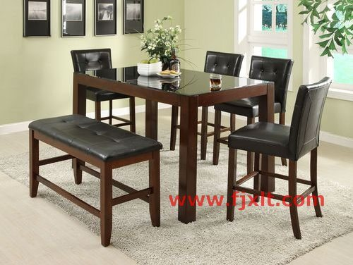 Dining table dining table tempered glass for Tempered glass dining table