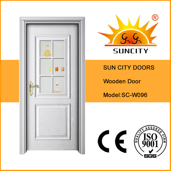 Elegant Design Wooden Glass Door for Bathroom (SC-W096)