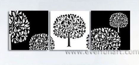 China Abstract Tree Painting on Canvas for Bedroom Decor Photos