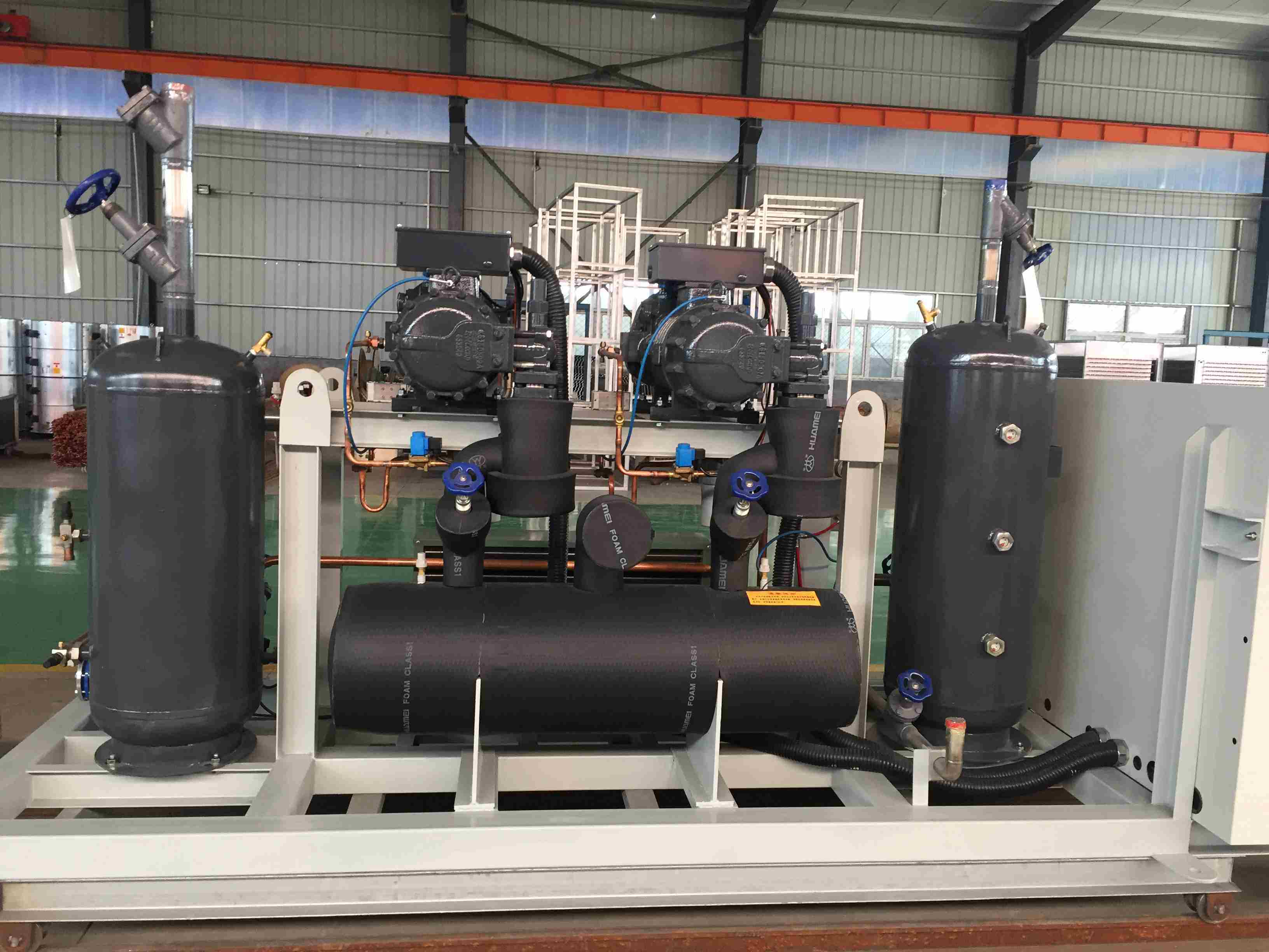 Refcomp High Temperature Screw Parallel Unit Refrigeration Compressor