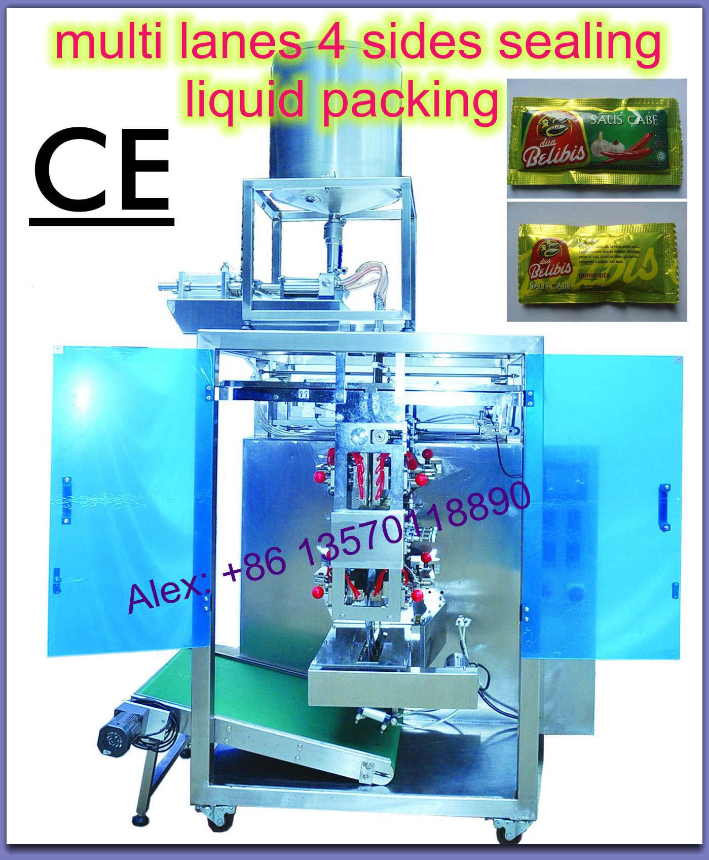 Multi-Lane 4-Side Sealing Liquid Packaging Machine
