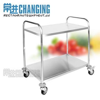 Round Tube Stainless Steel Dining Cart/Dining Trolley/Service Trolley