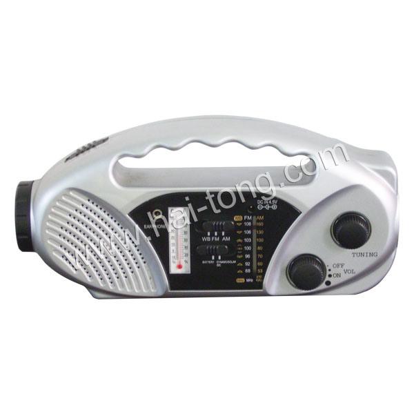 2015 Newest Emergency Multifunction Solar Hand Crank Am/FM Radio (HT-898)