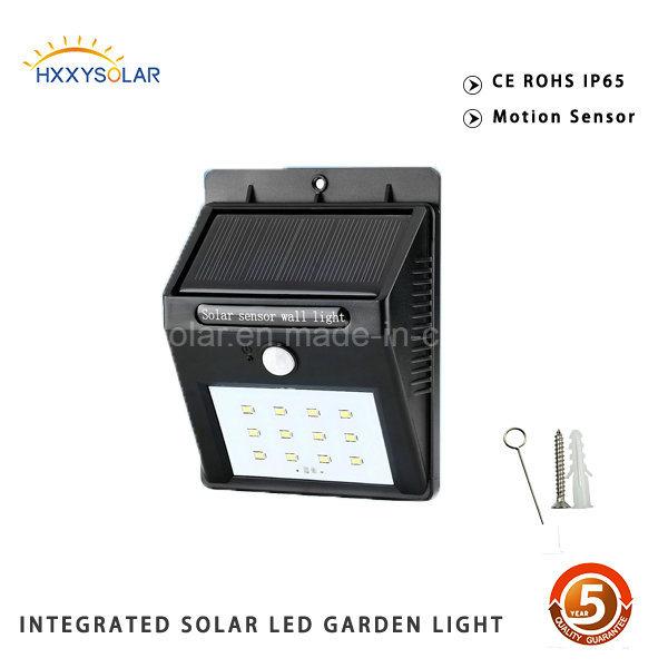 IP65 Cool White Motion Sensor Solar LED Sensor Wall Light Outdoor