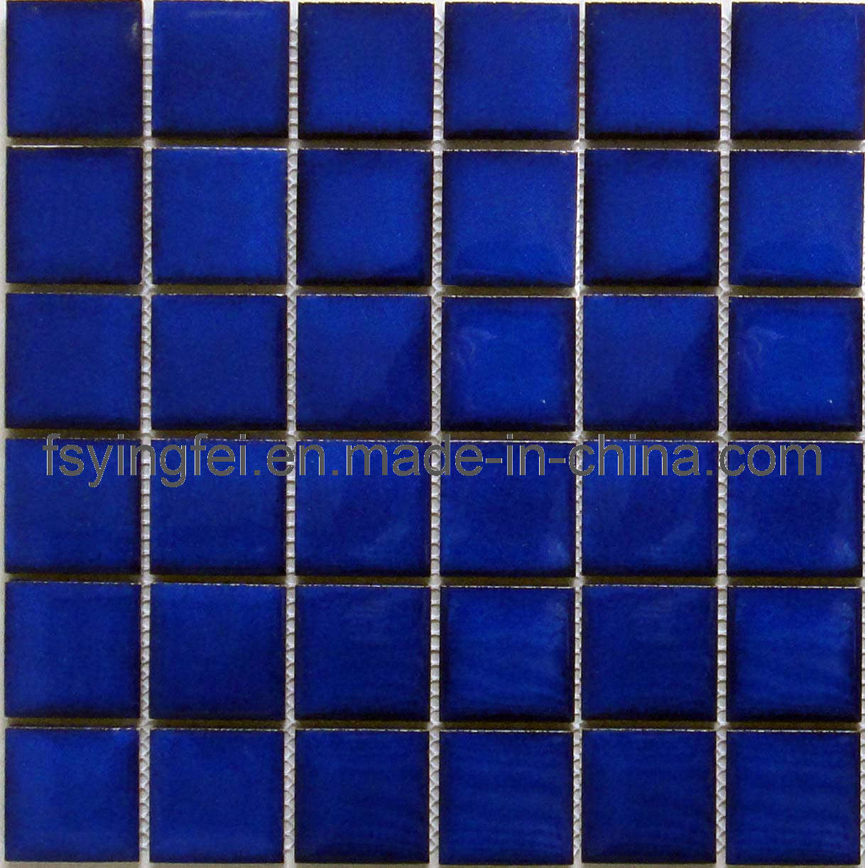 China deep blue swimming pool mosaic tile y48w03 china for Swimming pool tile pictures