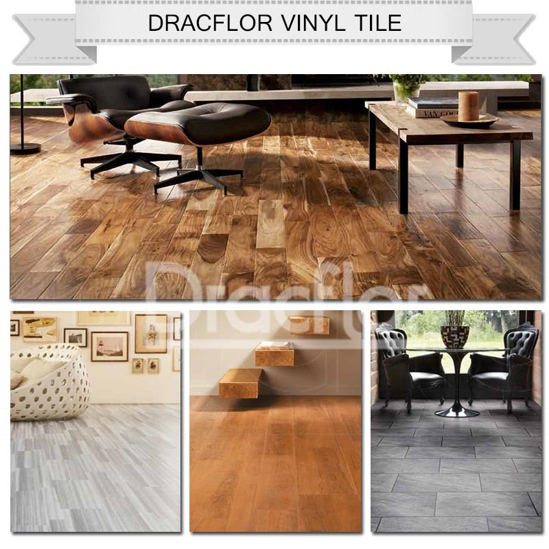 Durable Wood Click PVC Vinyl Floor Tile (P-7165)