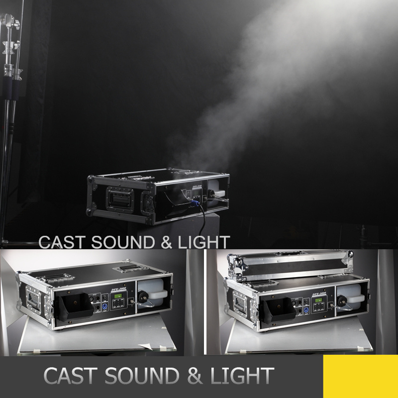Remote Control Hazer Powerful 2000W Mist Fog Machine with Flightcase