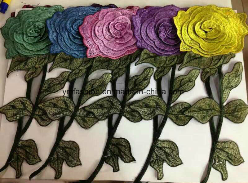 Hot Sell Garment Accessories Embroirdery Flower