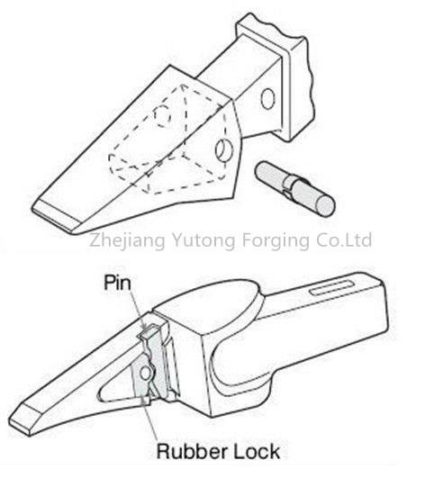 Komatsu Cat Daewoo Excavator Parts Steel Forging for Bucket Teeth 5