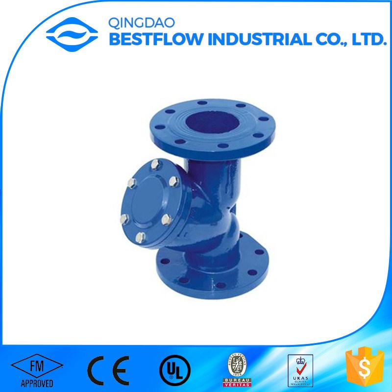 DIN/ANSI Cast Iron Flange End Y Strainer