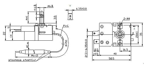 Capillary Thermostat Liquid Expansion Temperature Controller