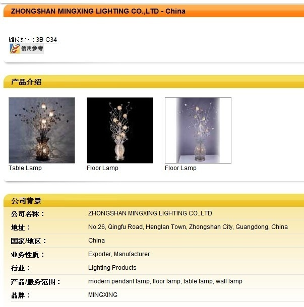 CE Modern Decoration Floor Standing Lamp