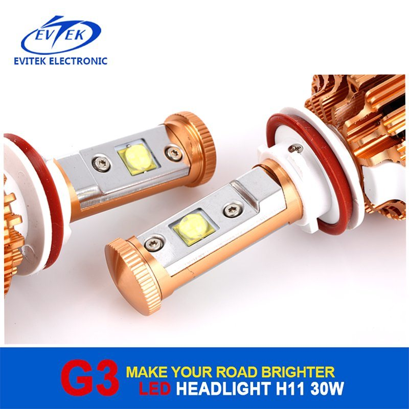 Car LED Lighting Product V16 Turbo 30W 3000lm H11 Car LED Headlight with CREE Chips