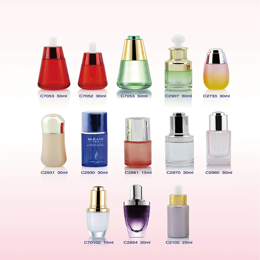 Frosted Luxury Glass Cosmetics Jars and Bottles in Guangzhou for Skin Care Container