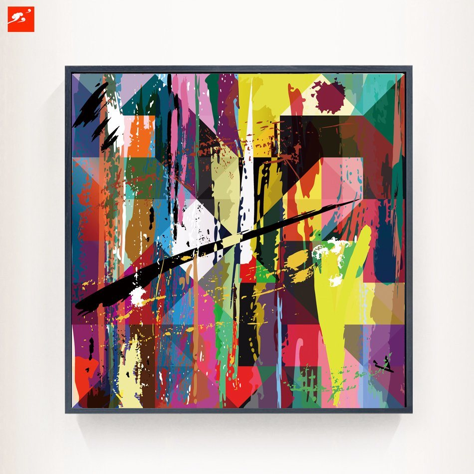 Colorful Abstract Canvas Print Oil Painting for Decor