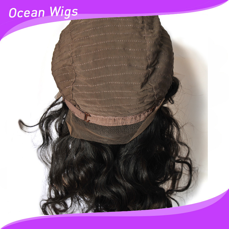 Quercy Hair 100% Peruvian Virgin Remy Human Hair Body Wave Front Lace Wig